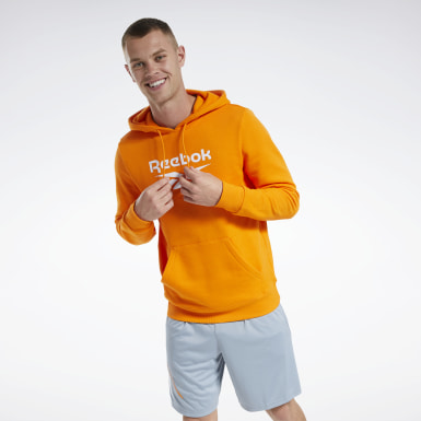 Men Classics Orange Classics Vector Hoodie