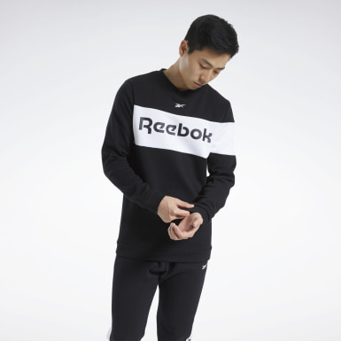 Men Fitness & Training Black Training Essentials Fleece Crew Sweatshirt