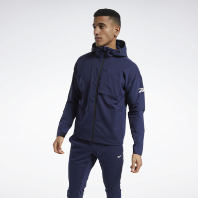 Men Training Blue United By Fitness Winterized Jacket