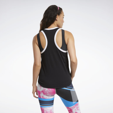 Women Fitness & Training Black MYT Reebok Tank Top