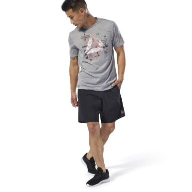 Short WOR Woven Nero Uomo Fitness & Training
