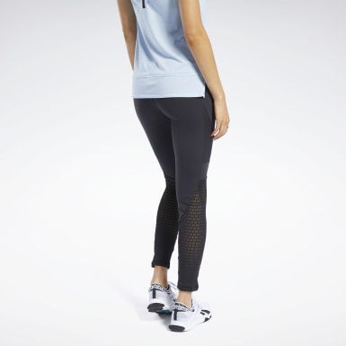 Dam Fitness & Träning Svart Reebok Lux Colorblock Tights 2.0