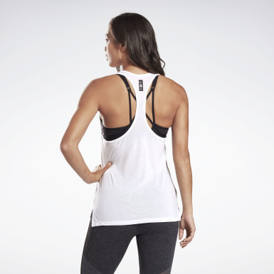 Women Studio White LES MILLS® Supremium Graphic Tank Top