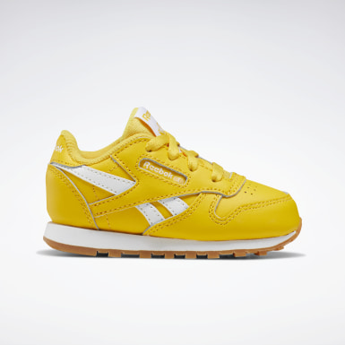 Boys Classics Yellow Classic Leather Shoes - Toddler