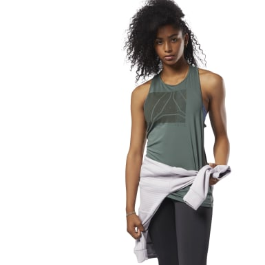 Women Training Green ACTIVCHILL Graphic Tank