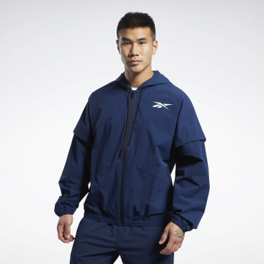 Giacca United by Fitness Woven Full-Zip Blu Fitness & Training