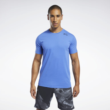 Heren Yoga Blauw Speedwick Move T-shirt
