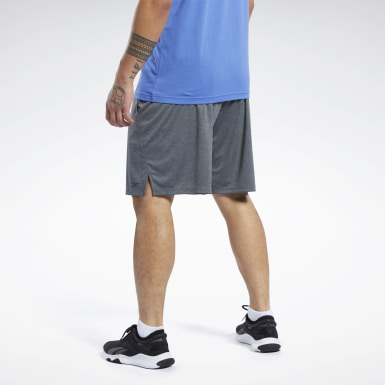 Männer Fitness & Training Knit Shorts Grau