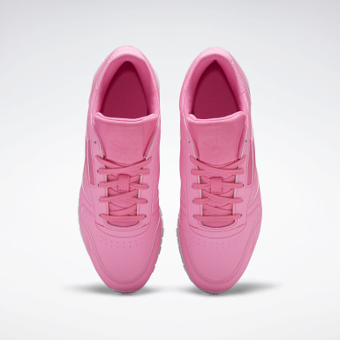 Women Classics Pink Classic Leather Shoes
