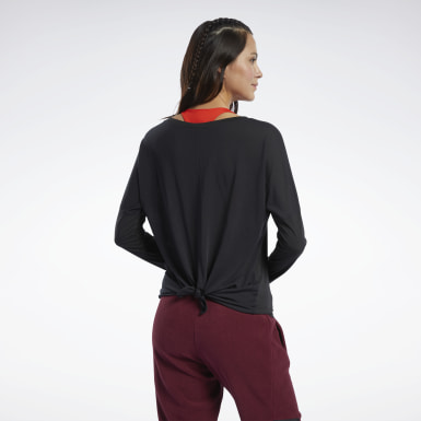 Women Hiking Black Workout Ready Supremium Long-Sleeve Top