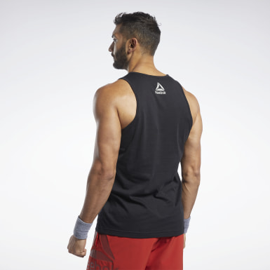 Camiseta sin mangas Reebok CrossFit® Repeat Graphic Negro Hombre Cross Training