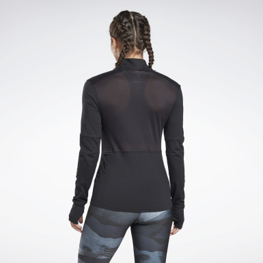 Maglia Running Essentials Quarter-Zip Nero Donna Trail Running