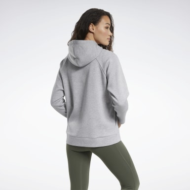 Women Training Grey Quik Cotton Vector Hoodie