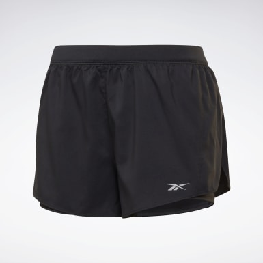 Women Hiking Black Running Essentials Two-in-One Shorts
