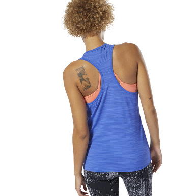 Women Training Blue ACTIVCHILL Vent Tank Top