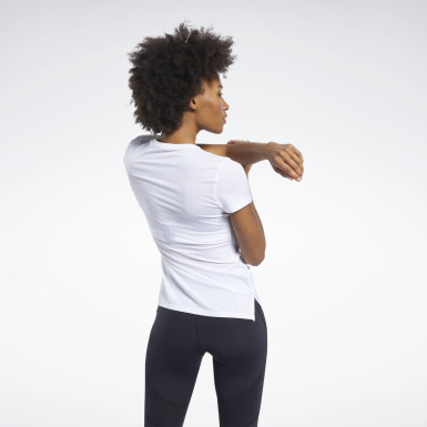 Remera SmartVent Blanco Mujer Fitness & Training