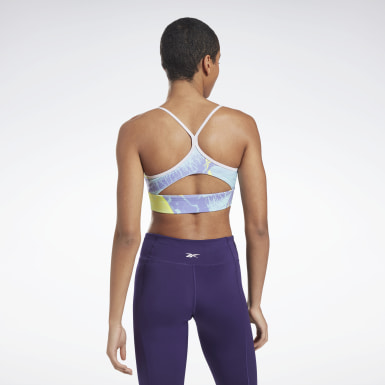 Women Yoga Workout Ready Printed Sports Bra