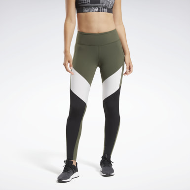 Women Cycling Green Lux Colorblock 2 Leggings