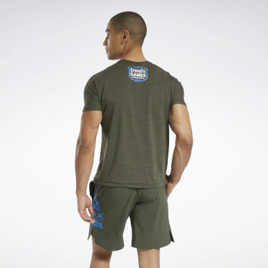 Men Training Green CrossFit® ACTIVCHILL Games Tee