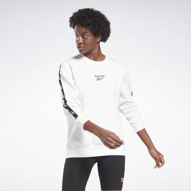 Women Fitness & Training White Training Essentials Crew Sweatshirt