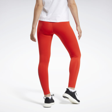 Dam Fitness & Träning Röd Training Essentials Linear Logo Tights