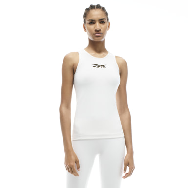Women Fitness & Training White VB Classic Tank Top
