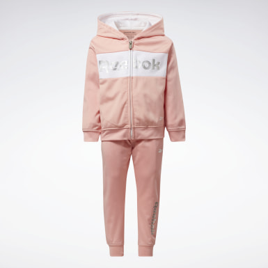 Girls Fitness & Training Pink Two-Piece Reebok Track Suit