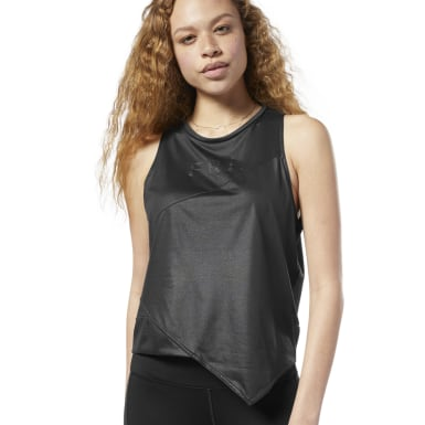 Women Studio Black Studio Graphic Tank Top