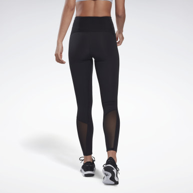Women Training Black Reebok Lux Perform High-Rise Leggings
