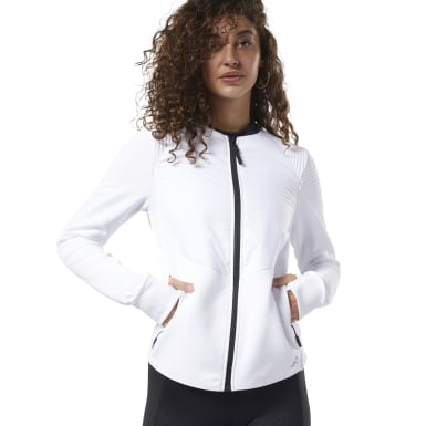 Women Training White Thermowarm Deltapeak Padded Jacket