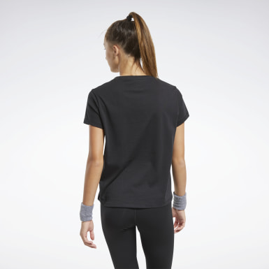 Dam Dans Svart Training Essentials Graphic Tee