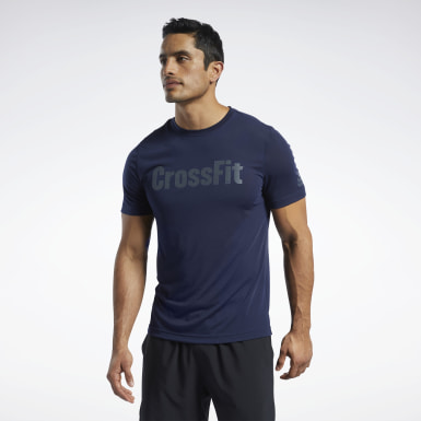 Men Training Blue Reebok CrossFit® Read Tee