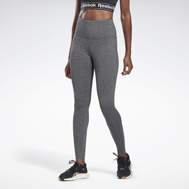Women Fitness & Training Grey Reebok Lux High-Rise Tights 2.0