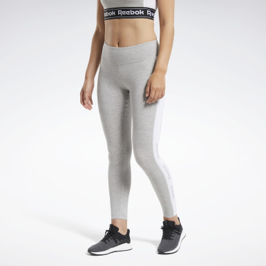 Women Fitness & Training Grey Training Essentials Linear Logo Leggings