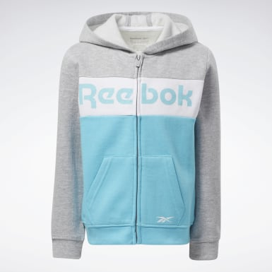 Sudadera Reebok Colorblock Turquesa Niño Fitness & Training