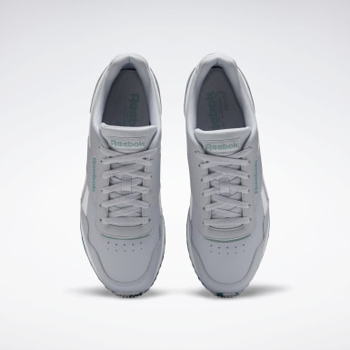Men Classics Grey Reebok Royal Glide Ripple Shoes