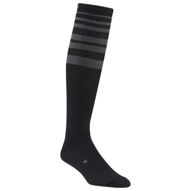 Men Training Black Reebok Delta Knee High Compression Sock - 1 Pack