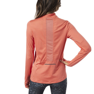 Women Running Orange Running Essentials Quarter-Zip Top