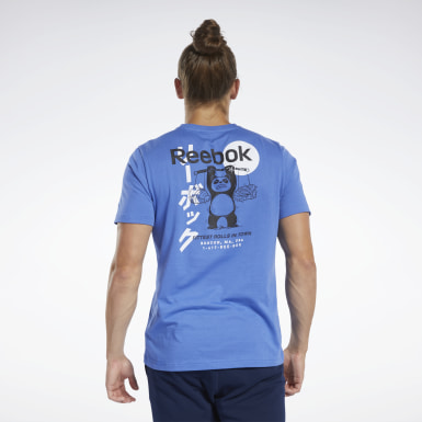 T-shirt Graphic Series Panda Crew Blu Uomo Fitness & Training