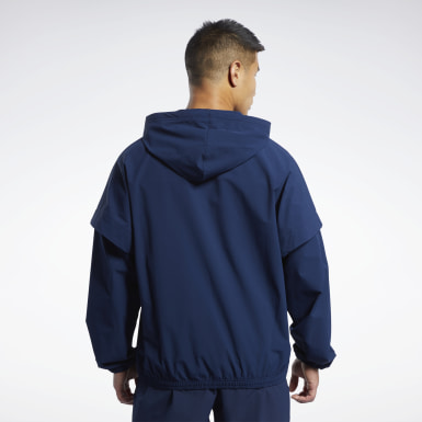 Chaqueta United by Fitness Woven Full-Zip Azul Fitness & Training