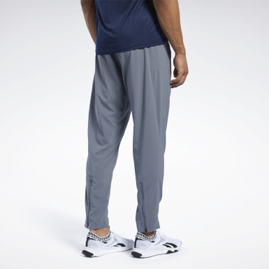 Men Fitness & Training Grey Workout Ready Track Pant