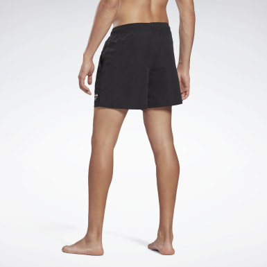 Men Swimming Black Woven Swim Shorts