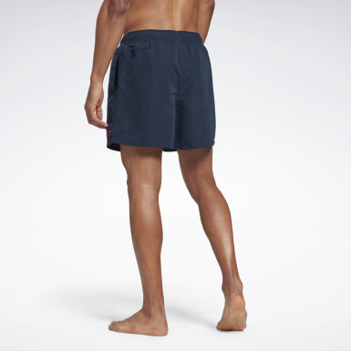 Men Swimming Blue Woven Swim Shorts