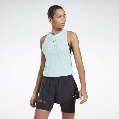 Women Fitness & Training Blue United By Fitness Perforated Tank Top