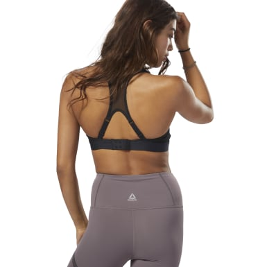 Women Studio Black Reebok Hero Power Bra