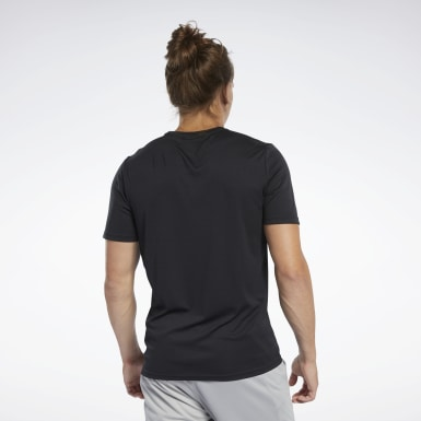 Men Yoga Black Workout Ready Graphic T-Shirt