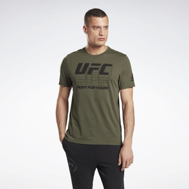 Men MMA Green UFC Fan Gear Logo T-Shirt