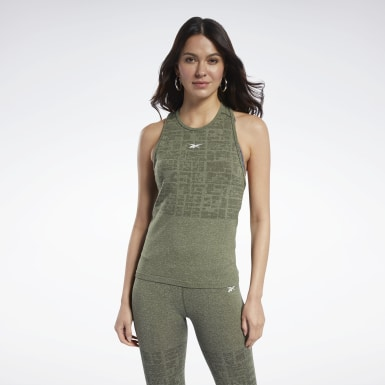 Women HIIT Green United By Fitness MyoKnit Seamless Tank Top