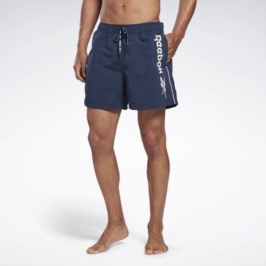 Men Swimming Blue Reebok Worrall Swim Shorts