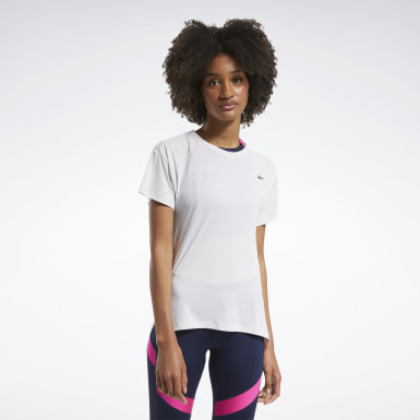 Women Cross Training White Workout Ready ACTIVCHILL Tee